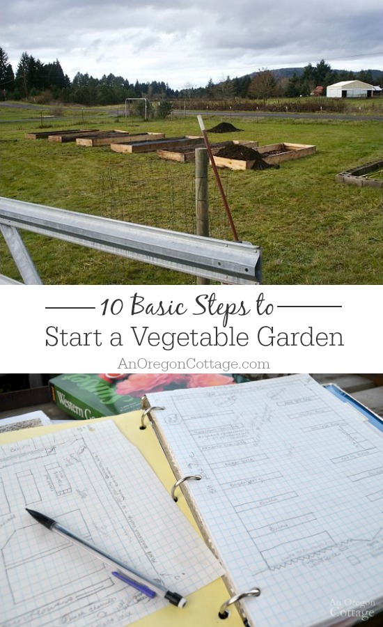 Start organic gardening with these 10 basic steps and you'll be growing your own vegetables this year!