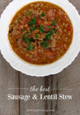 Sausage Lentil Stew pin image