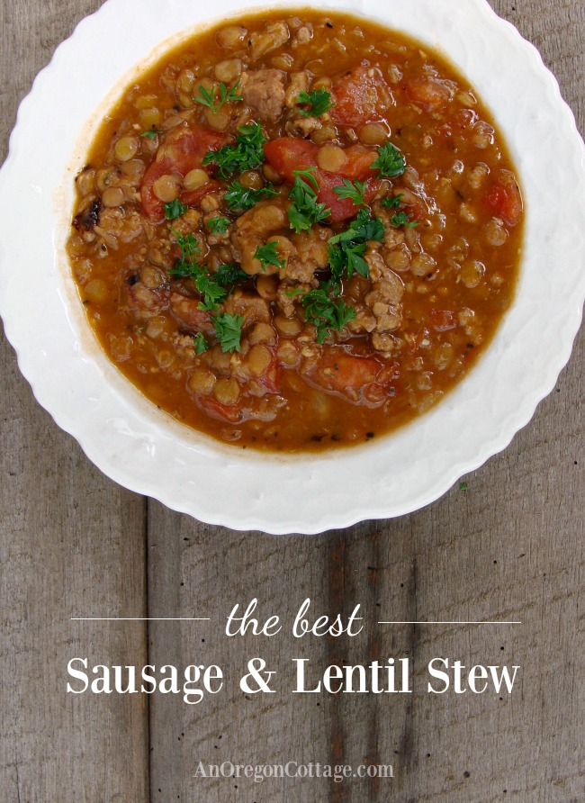 The best sausage and lentil stew for filling and flavorful family dinners