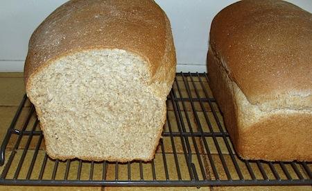 Soft WW Sandwich Bread cut loaf