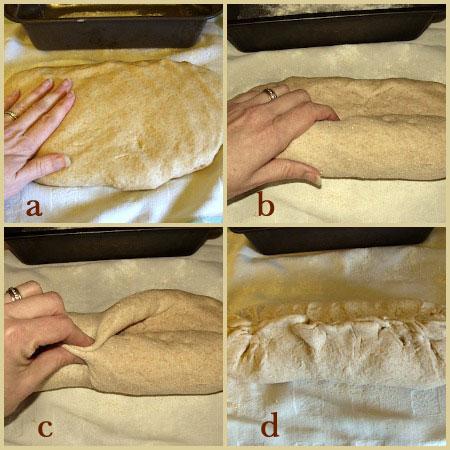Whole wheat sandwich bread-shaping bread dough