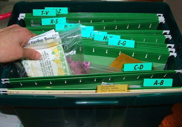 How to Start Seeds - Filing Seed Packets - An Oregon Cottage