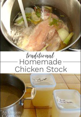 Traditional Homemade Chicken Stock-Bone Broth