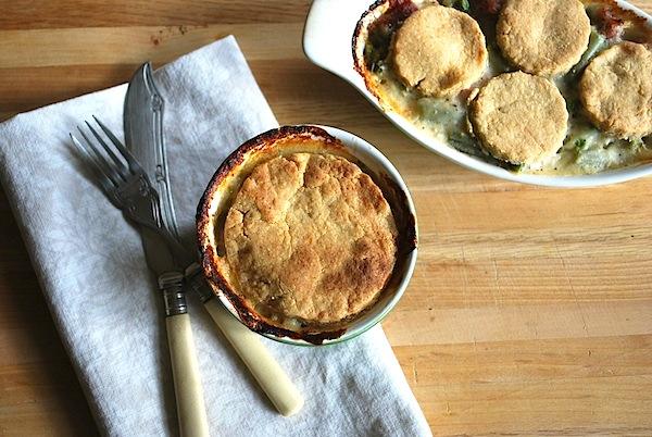 Cheesy Crust Ham Pot Pie Ramekins - An Oregon Cottage