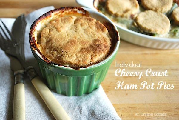 Individual Cheesy Crust Ham Pies - An Oregon Cottage