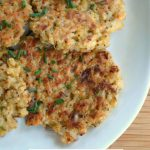 Parmesan Rice Cakes- a delicious way to use up leftover rice.