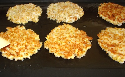 cooking parmesan rice cakes
