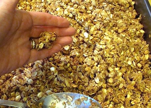 granola clumps