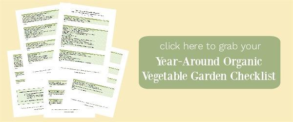 Organic vegetable garden checklist