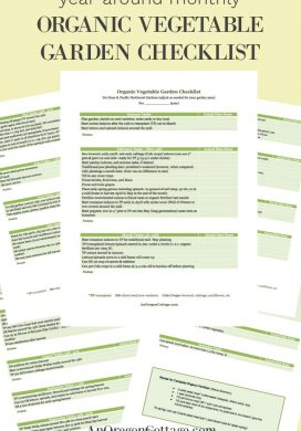 Year-Around Monthly Organic Vegetable Garden Checklist
