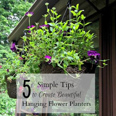 Tips to create beautiful hanging baskets at Hearth and Vine