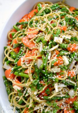 Asian Noodle Salad with Asparagus