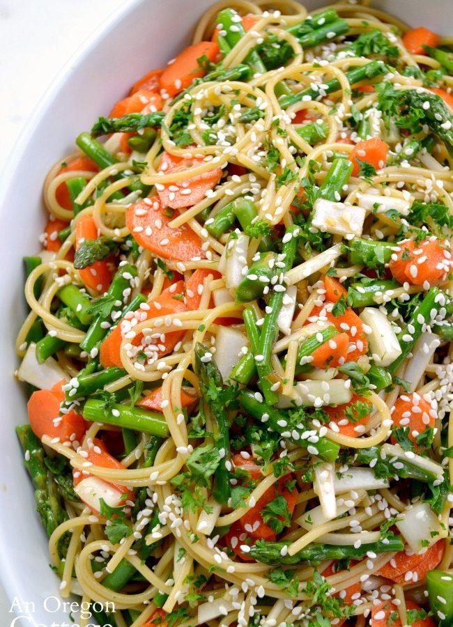 Asian Noodle Salad with Asparagus