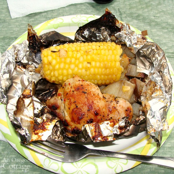 20 Make Ahead Camping Recipes For Easy Meal Planning: Camping Chicken Foil Dinner {or Grill At Home}