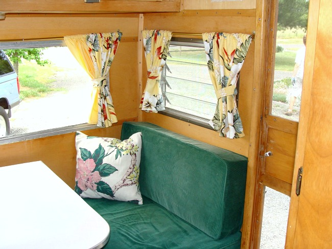 Dalton vintage trailer recovered bench seat