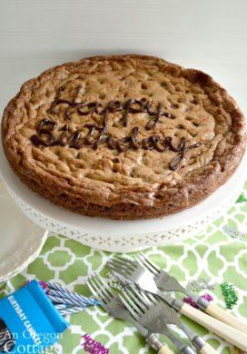 Giant Birthday Cookie Cake