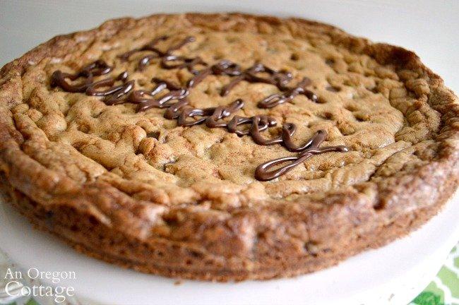 Giant Birthday Cookie close