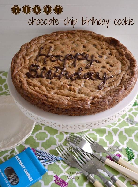 Giant Chocolate Chip Cookie {aka, Skillet Cookie} - An Oregon Cottage