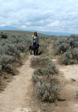 Jami-Samson in wagon ruts of Oregon Trail