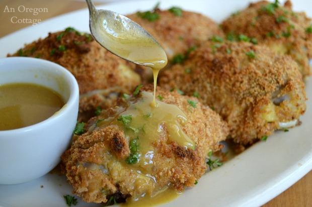 Maple Mustard Chicken with Sauce - An Oregon Cottage