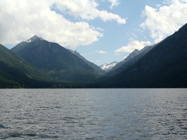 Wallowa Lake view from the boat