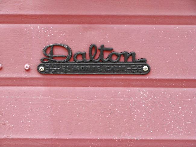 dalton vintage trailer name plate