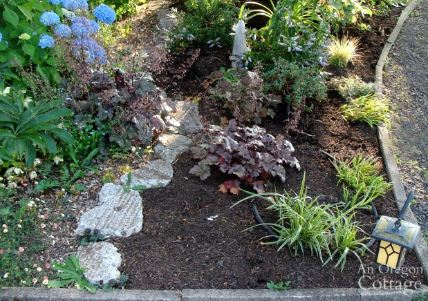 weed-free flower bed-right front