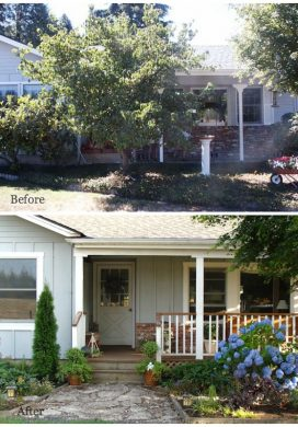 House Hunting: Rancher Exterior Front Door before and after