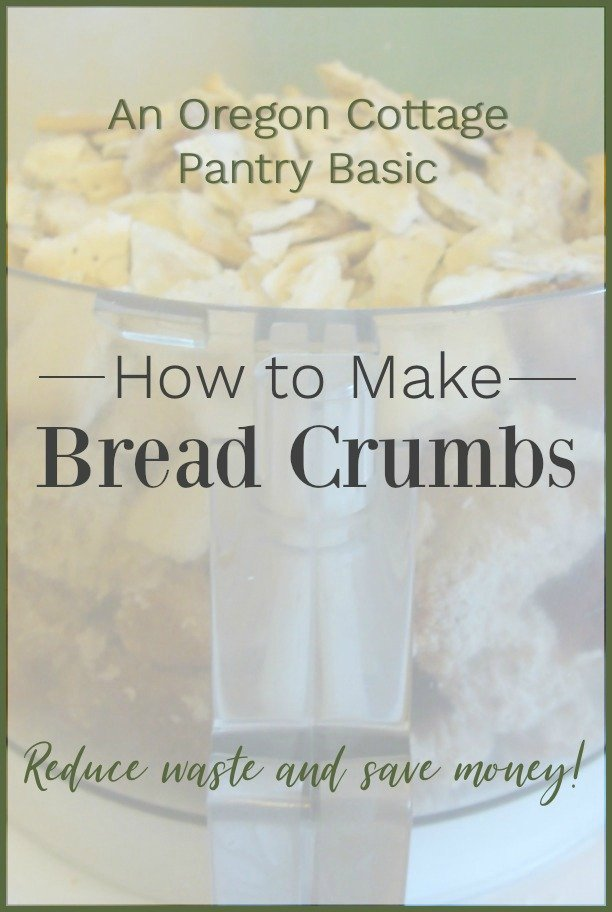 How to make bread crumbs in a processor