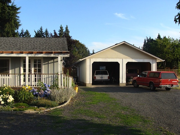 New Garage During - An Oregon Cottage