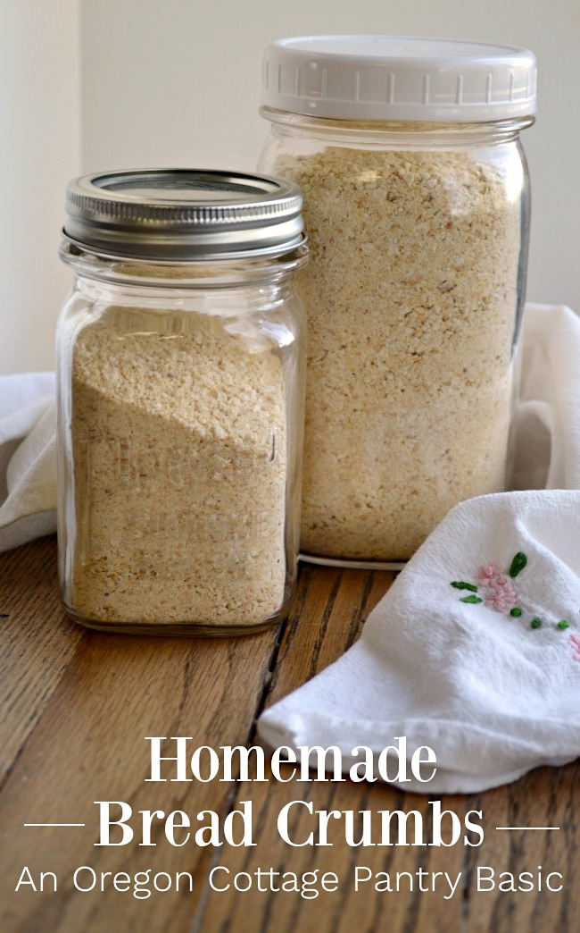 Pantry Basic Homemade Bread Crumbs for freezer