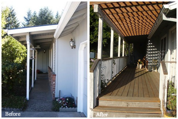 Porch Before-After - An Oregon Cottage