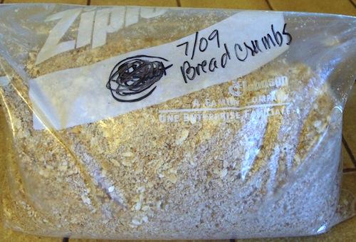 bag of bread crumbs