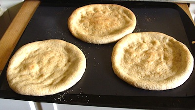 cooked pizza shells