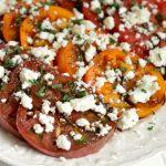Easy Heirloom Tomatoes and Feta Salad