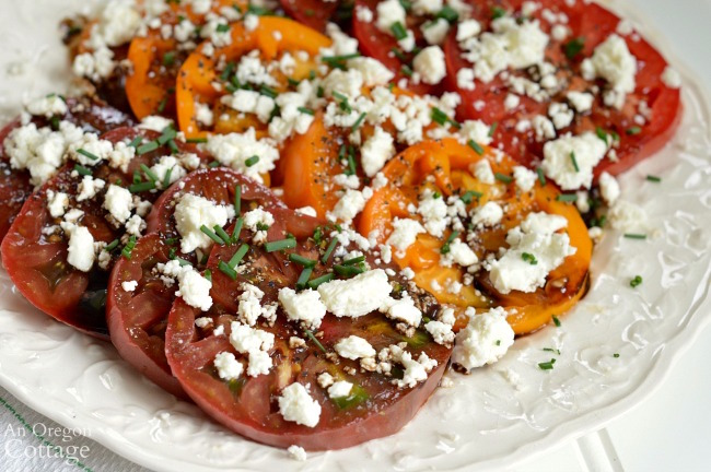 Easy Heirloom Tomatoes and Feta Salad