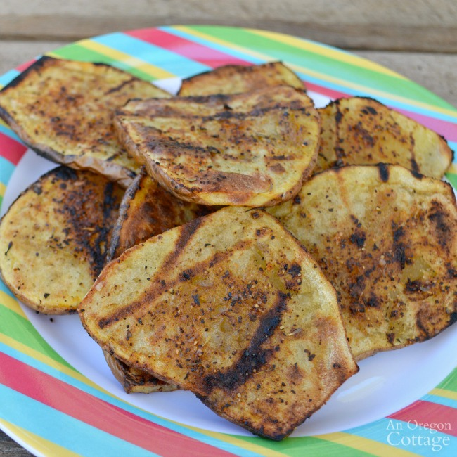Easy Grilled potato planks