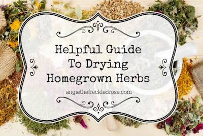 Guide to Drying Homegrown Herbs via The Freckled Rose