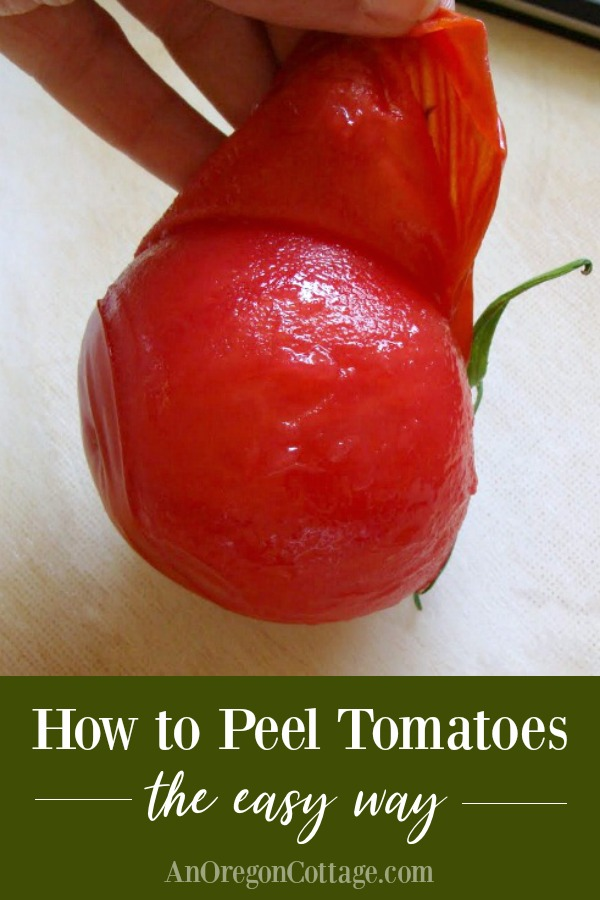 How to Peel Tomatoes Easily - peeling a tomato