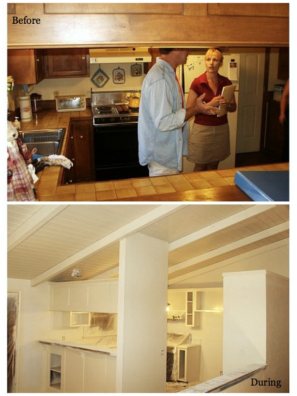 Remodeling Series Kitchen Before and During - An Oregon Cottage