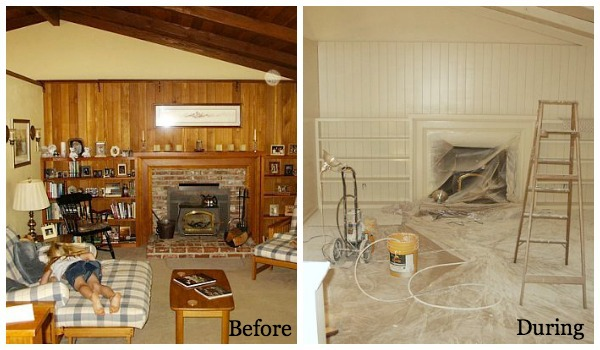 Remodeling Series Living Room Before and During - An Oregon Cottage