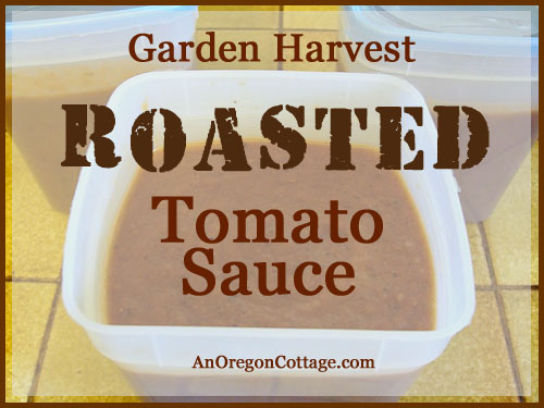Easy Roasted Tomato Sauce to Freeze
