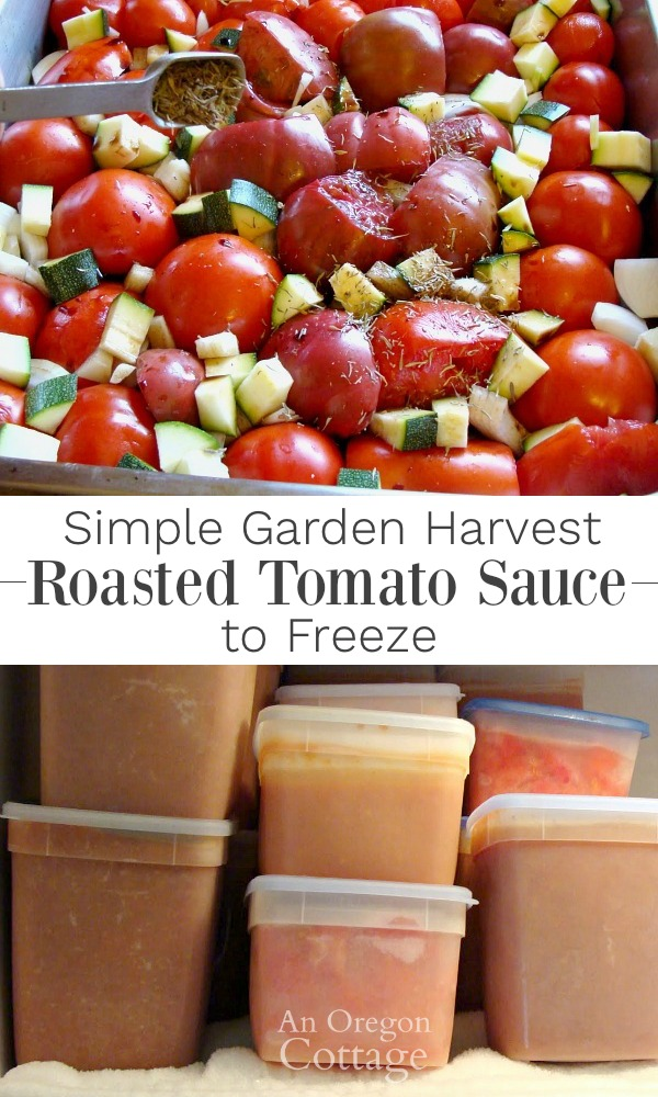 Roasted tomato sauce to freeze-a simple and delicious way to use your garden harvest