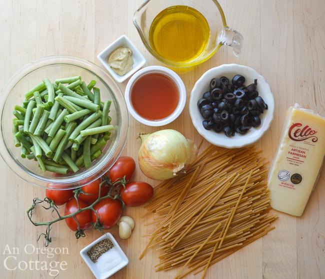 Summer Pasta Salad ingredients