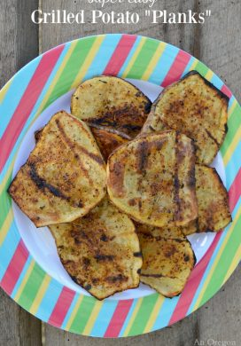 Grilled Potato Planks on plate