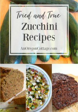 Tried and true zucchini recipes pin image