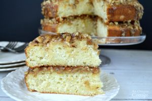 White Zucchini Cake with caramel-nut frosting