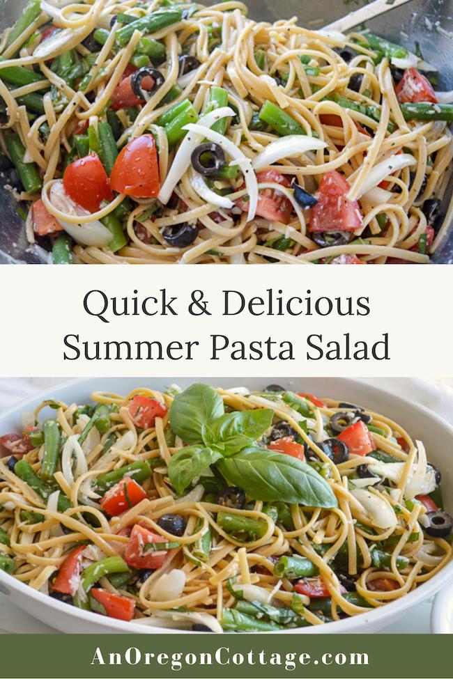 delicious summer pasta salad