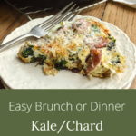 easy kale or chard sausage frittata