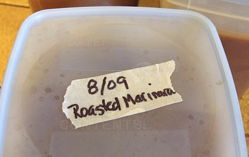 labeled freezer container